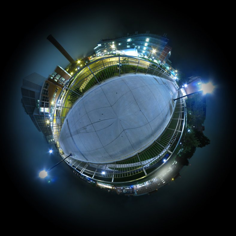 Mini Planet - Ann Arbor Night by `electricjonny at http://electricjonny.deviantart.com/art/Mini-Planet-Ann-Arbor-Night-99559335