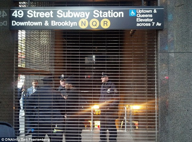Scene outside the Subway station after the incident.