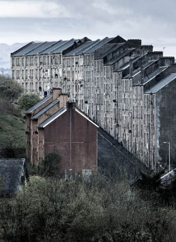 Tenement Buildings at Port Glasgow,Invercycle by Simon Butterworth