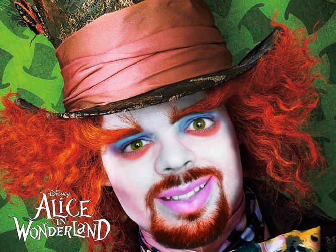 Profile Picture while being a Mad Hatter not taking advantage of social media.