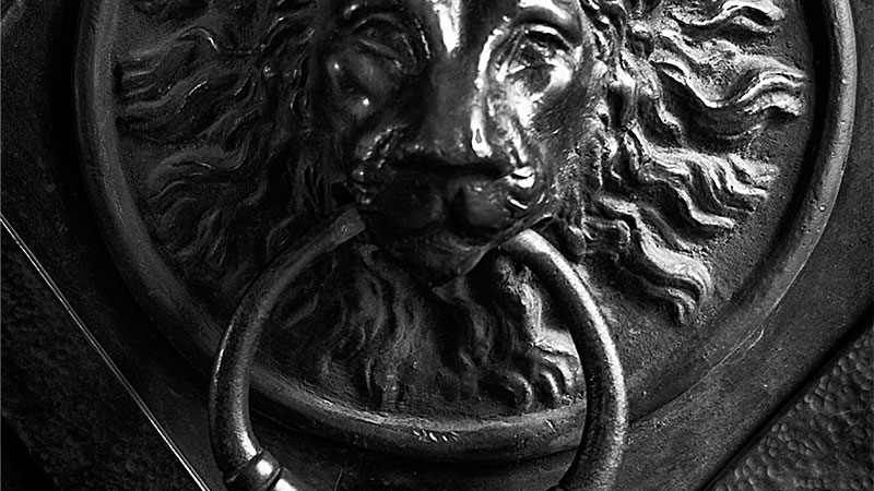 & Lion Door Knocker | Aperture64