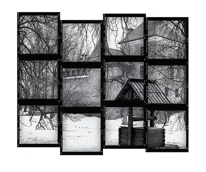well-and-castle-black-and-white-contact-sheet