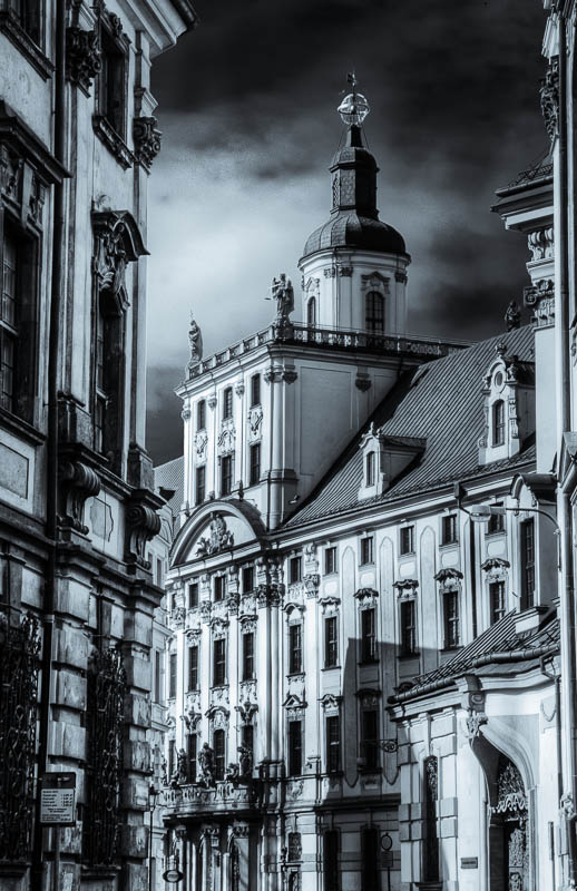 Wroclaw street black and white