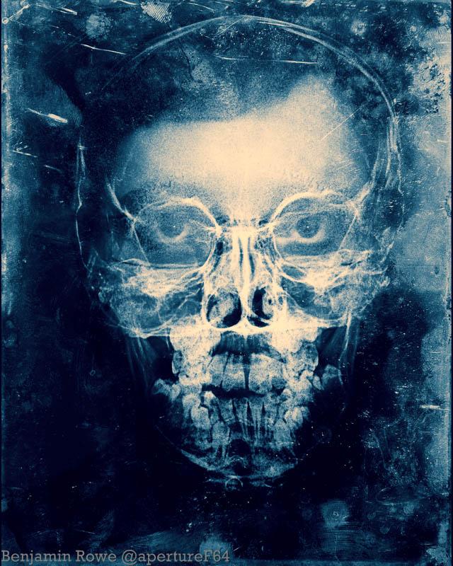 Double exposure X ray Self portait