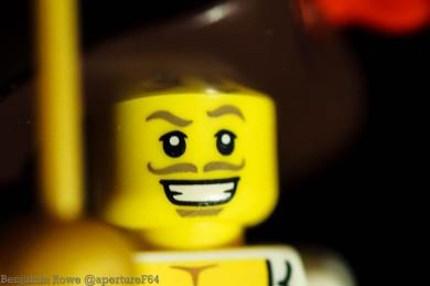 1:1 Macro with Lego Man