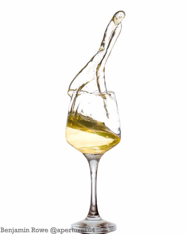 Spilling wine