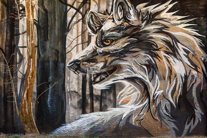 картинки с волками граффити возможно