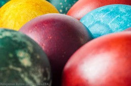 Close up Dyed Eggs