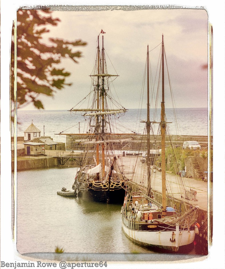 Charlestown tall ships vintage