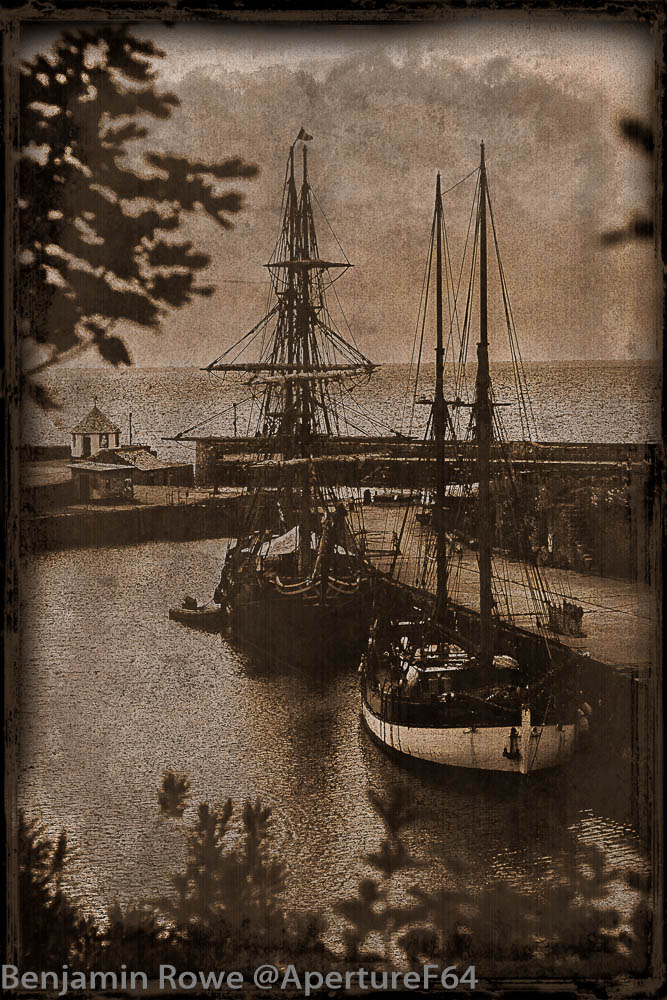 Tall Ships in Charlestown Vintage