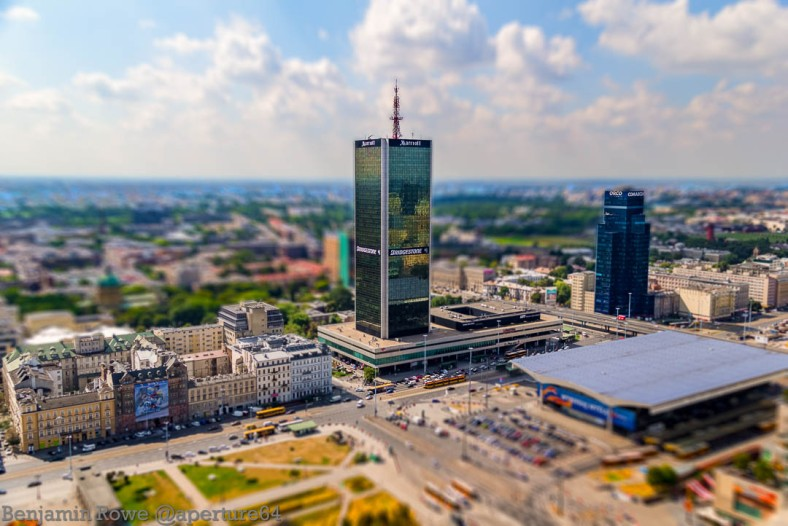 Marriott hotel Warsaw Tilt Shift