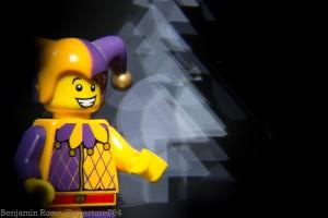 In camera lego Jester and custom bokeh